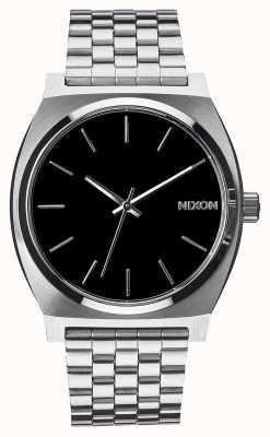 Nixon Time Teller   Black   Stainless Steel Bracelet   Black Dial A045-000-00