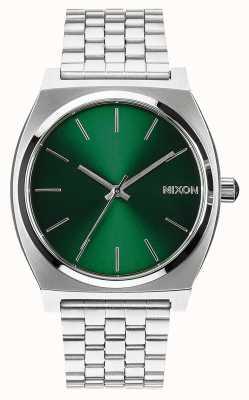 Nixon Time Teller   Green Sunray   Stainless Steel Bracelet   Green Dial A045-1696-00