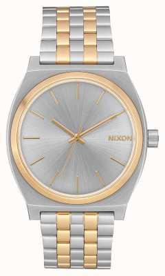 Nixon Time Teller | Silver / Gold | Two Tone Steel Bracelet | Silver dial A045-1921-00
