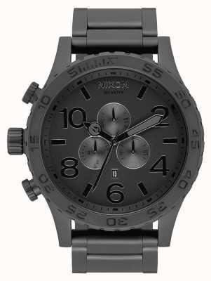 Nixon 51-30 Chrono   All Matte Black / Black   Black IP Bracelet   Black Dial A083-3086-00