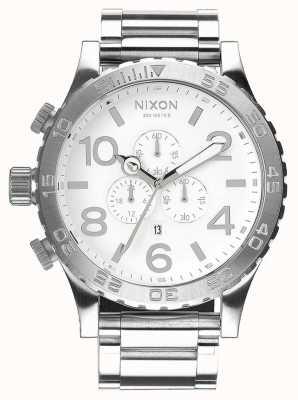 Nixon 51-30 Chrono   High Polish / White   Stainless Steel Bracelet   White Dial A083-488-00