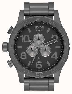 Nixon 51-30 Chrono | All Gunmetal | Gunmetal Steel Bracelet | Gunmetal Dial A083-632-00