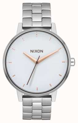 Nixon Kensington   Silver / White / Rose Gold   Stainless Steel Bracelet   White Dial A099-3029-00