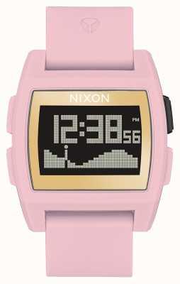 Nixon Base Tide    Soft Pink / Gold / LH   Digital   Pink Silicone Strap A1104-2773-00