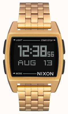 Nixon Base | All Gold | Digital | Gold IP Steel Bracelet A1107-502-00
