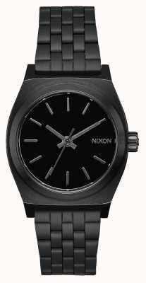 Nixon Medium Time Teller | All Black | Black IP Steel Bracelet | Black Dial A1130-001-00