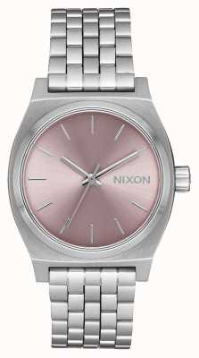 Nixon Medium Time Teller   Silver / Pale Lavender   Stainless Steel Bracelet   A1130-2878-00