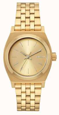 Nixon Medium Time Teller | All Gold | Gold IP Steel Bracelet | Gold Dial A1130-502-00