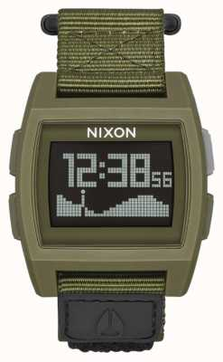 Nixon Base Tide Nylon   Surplus   Digital   Green Nylon Strap A1169-1085-00