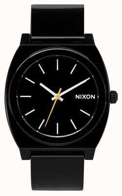 Nixon Time Teller P   Black   Black Plastic Strap   Black Dial A119-000-00