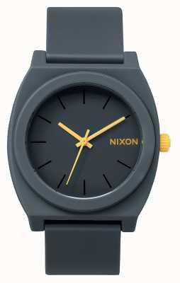 Nixon Time Teller P   Matte Steel Grey   Grey Silicone Strap   Grey Dial A119-1244-00