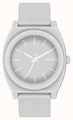 Nixon Time Teller P   Matte Cool Grey   Grey Silicone Strap   Grey Dial A119-3012-00