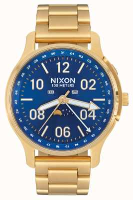 Nixon Ascender   All Gold / Blue Sunray   Gold IP Steel   Blue Dial A1208-2735-00