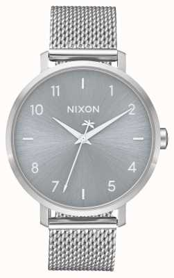 Nixon Arrow Milanese   All Silver   Stainless Steel Mesh   Silver Dial A1238-1920-00