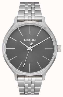 Nixon Clique   All Silver / Grey   Stainless Steel Bracelet   Silver Dial A1249-2762-00