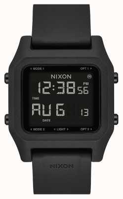Nixon Staple | Black | Digital | Black Silicone Strap A1309-000-00