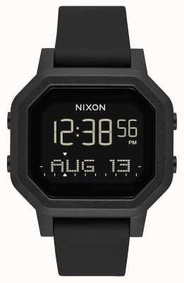 Nixon Siren | All Black | Digital | Black Silicone Strap A1311-001-00