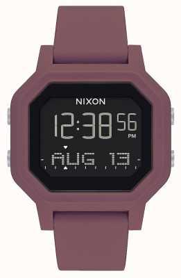 Nixon Siren  | Burgundy | Digital | Burgundy Silicone Strap A1311-234-00
