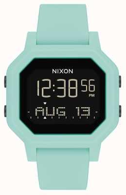 Nixon Siren   Aqua   Digital   Turquoise Silicone Strap A1311-2930-00