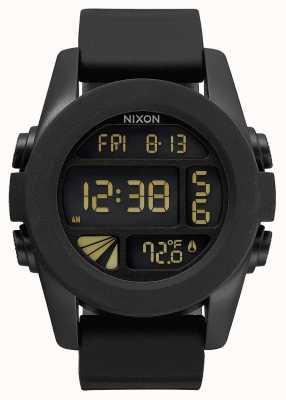 Nixon Unit   Black   Digital   Black Silicone Strap   A197-000-00