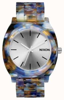 Nixon Time Teller Acetate   Watercolour Acetate   Silver Dial A327-1116-00