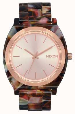 Nixon Time Teller Acetate | Rose Gold / Pink Tortoise | Rose Gold Dial A327-3233-00