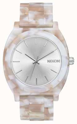 Nixon Time Teller Acetate   Pink / Silver   Silver Dial A327-718-00