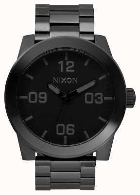 Nixon Corporal SS   All Black   Black IP Steel Bracelet   Black Dial A346-001-00