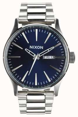 Nixon Sentry SS | Blue Sunray | Stainless Steel Bracelet | Blue Dial A356-1258-00