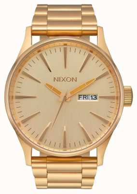 Nixon Sentry SS | All Gold | Gold IP Steel Bracelet | Gold Dial A356-502-00