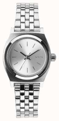 Nixon Small Time Teller   All Silver   Stainless Steel Bracelet Silver Dial A399-1920-00