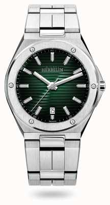 Michel Herbelin Cap Camarat Quartz   Stainless Steel Bracelet   Green Dial 12245/B16