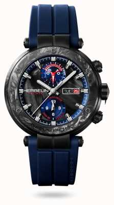 Michel Herbelin Newport Régate Carbone   Blue Silicone Strap   Carbon Case 288/CN45CB