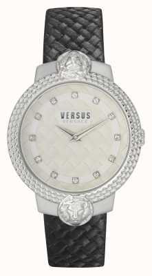 Versus Versace | Women's | Mouffetard | Black Leather Strap | White Dial | VSPLK1120