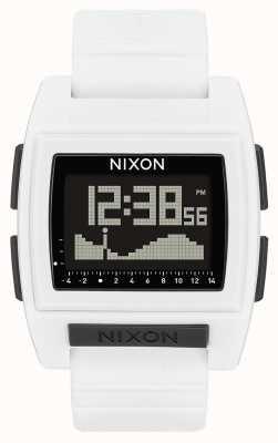 Nixon Base Tide Pro | White | Digital | White silicone strap A1212-100-00