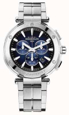 Michel Herbelin Men's Newport Chronograph   Stainless Steel Bracelet   37688/B35