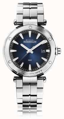 Michel Herbelin Men's Newport   Stainless Steel Bracelet   Blue Dial 12288/B15