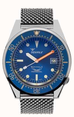 Squale 1521 Ocean Mesh | Blue Dial | Stainless Steel Mesh Bracelet 1521OCN-CINSS20
