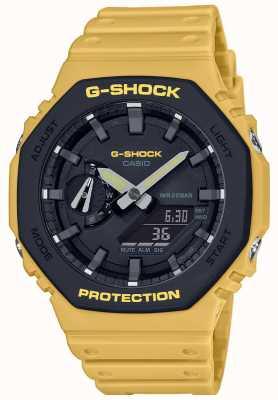 Casio | G-Shock | Carbon Core | Layered Bezel | Yellow Rubber Strap | GA-2110SU-9AER