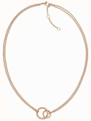 Tommy Hilfiger | Rose Gold Tone | Double Open Circle | Necklace | 2780078