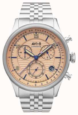 AVI-8 FLYBOY LAFAYETTE   Chronograph   Stainless Steel Bracelet AV-4076-44