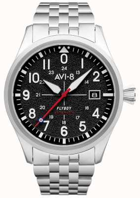 AVI-8 FLYBOY   Automatic   Black Dial   Stainless Steel Bracelet AV-4075-11