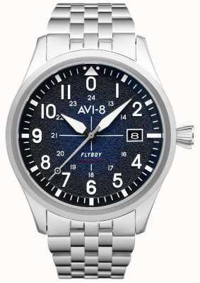 AVI-8 FLYBOY | Automatic | Blue Dial | Stainless Steel Bracelet AV-4075-22