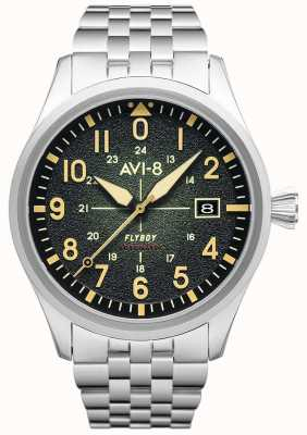 AVI-8 FLYBOY   Automatic   Green Dial   Stainless Steel Bracelet AV-4075-33