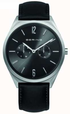 Bering Classic Collection   Black Leather Strap   Black Dial 17140-402