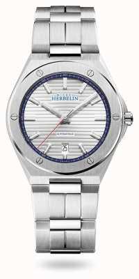 Michel Herbelin Cap Camarat   Automatic   Silver Dial   Stainless Steel Bracelet 1645/B42