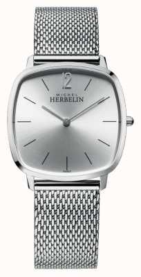 Michel Herbelin City   Silver Dial   Stainless Steel Mesh Bracelet 16905/11B