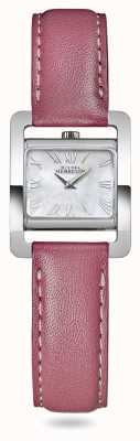 Michel Herbelin V Avenue | Pink Leather Strap | Mother Of Pearl Dial 17037/09ROZ