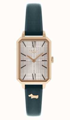 Radley | Women's | Navy Leather Strap | White Rectangle Dial | RY21206