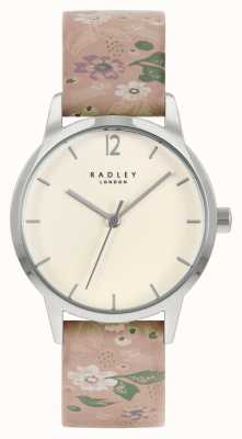 Radley Women's Pink Floral Leather Strap | Cream Dial RY21231A